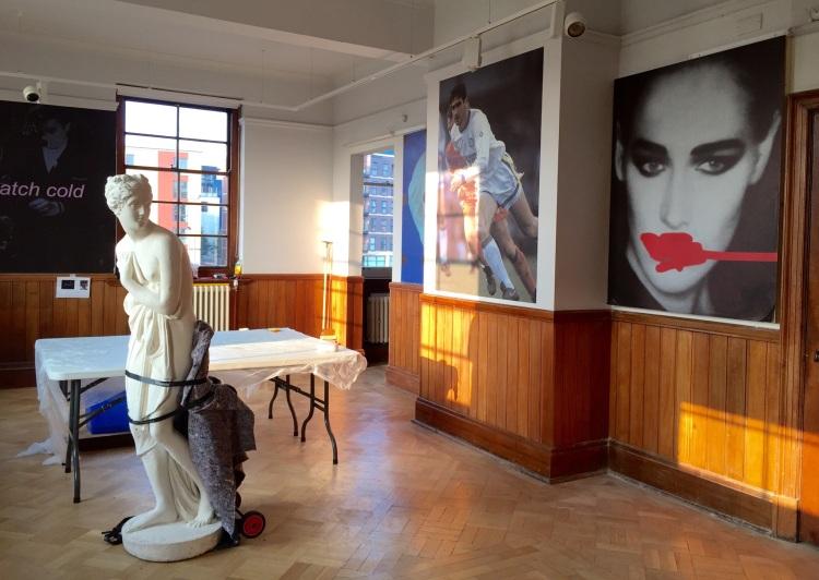Simeon Barclay, installation in progress, October 2015 (courtesy of the Artist)